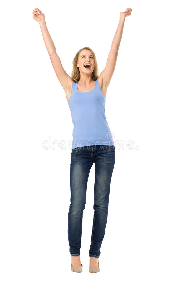 Download Woman With Arms Raised Royalty Free Stock Photos - Image: 23826488
