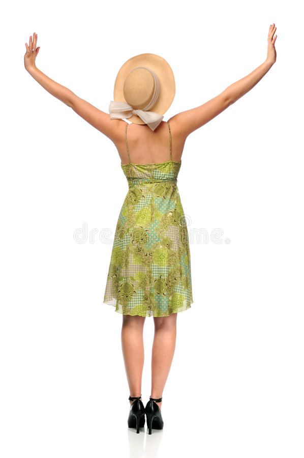 Download Woman With Arms Raised stock image. Image of sweet, female - 8787143