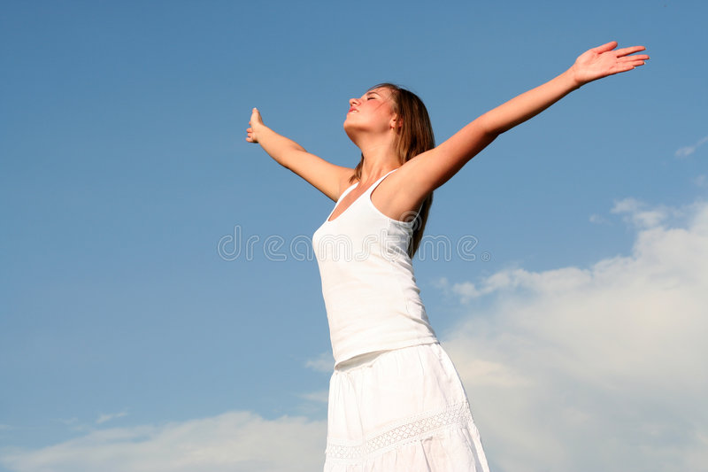 Download Woman With Arms Wide Open Royalty Free Stock Photos - Image: 2973538