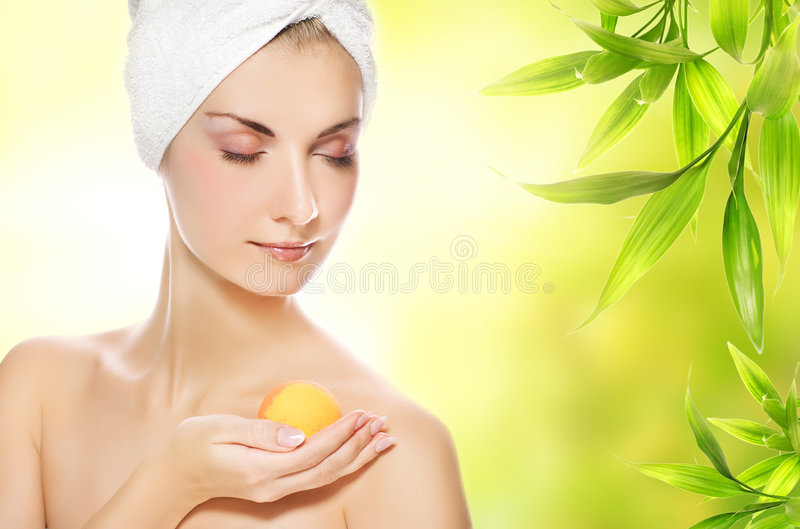 Woman With Aroma Soap Stock Photography