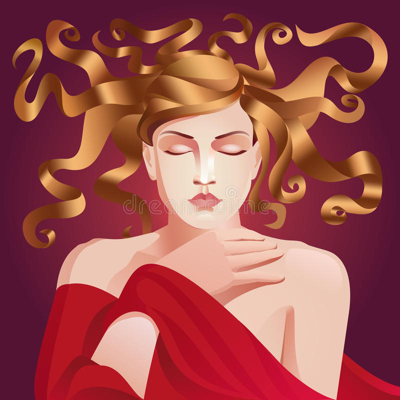Woman art deco royalty free stock images