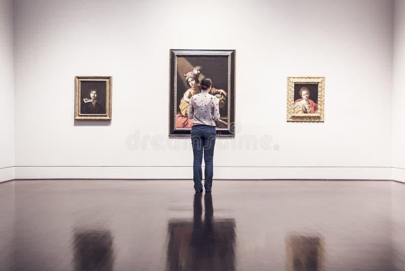 Woman At Art Exhibition Preview Free Public Domain Cc0 Image