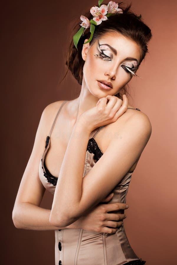 Download Woman with art visage stock photo. Image of elegant, fashion - 22347572