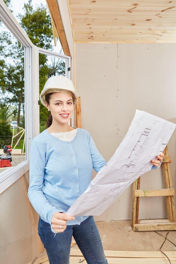 Woman as architect royalty free stock photos