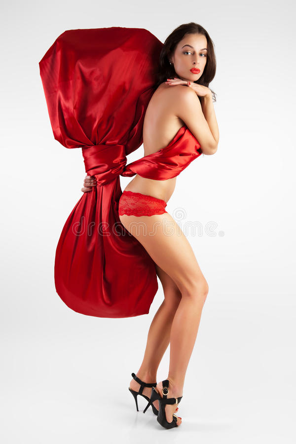 Download Woman As A Gift For The Holiday. Stock Photo - Image: 22978722
