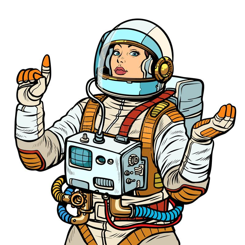 Free Woman Astronaut, Space Exploration Isolate On White Background Stock Photos - 144629673