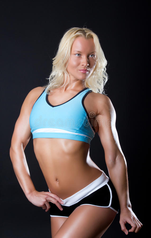Woman with athletic body stock photography