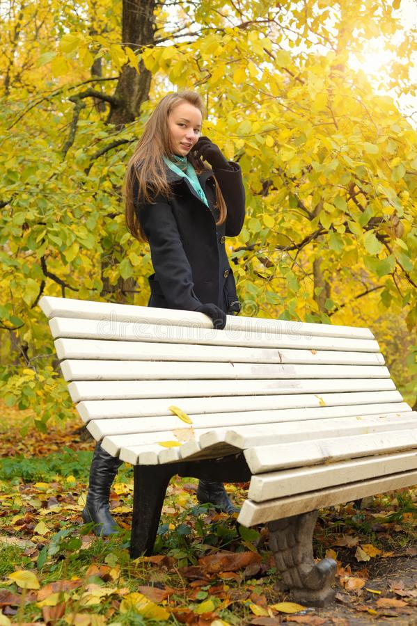 Download Woman in autumn stock photo. Image of golden, caucasian - 18718716