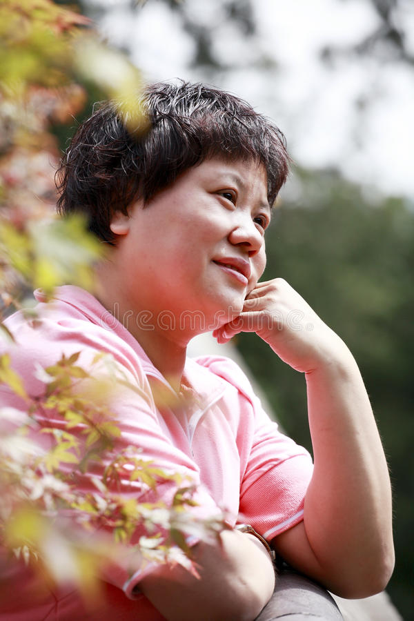 Download Woman in the autumn stock photo. Image of october, chinese - 19266756