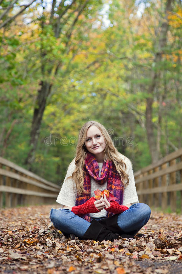 Download Woman In Autumn Royalty Free Stock Images - Image: 24582129