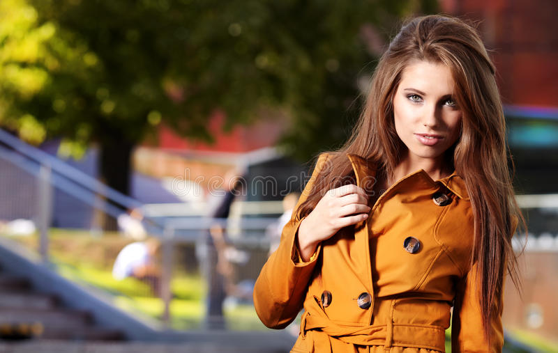 Download Woman in autumn city stock photo. Image of stylish, lifestyle - 23597286