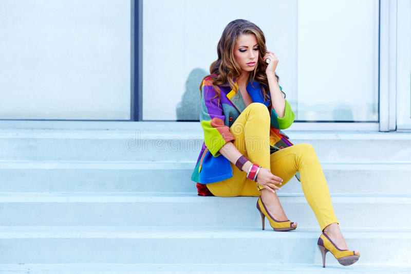 Download Woman In Autumn City Royalty Free Stock Images - Image: 26424549