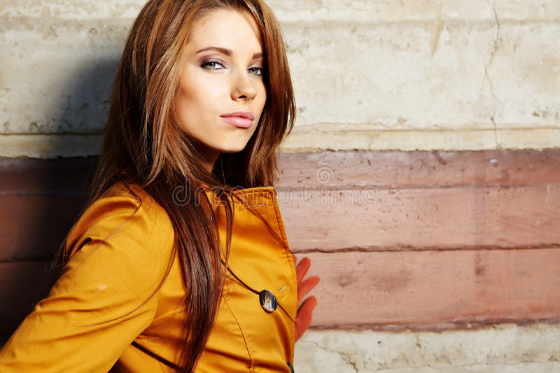 Download Woman  in autumn color stock image. Image of fresh, girl - 21698325