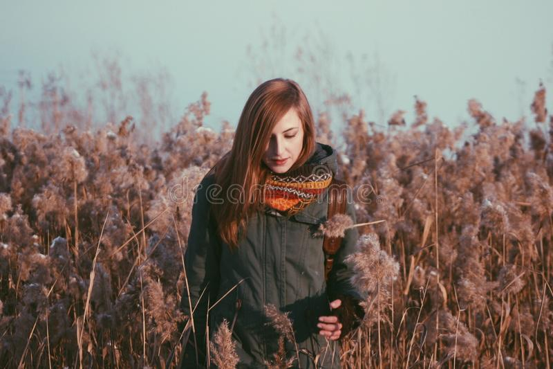 Woman In Autumn Field Free Public Domain Cc0 Image