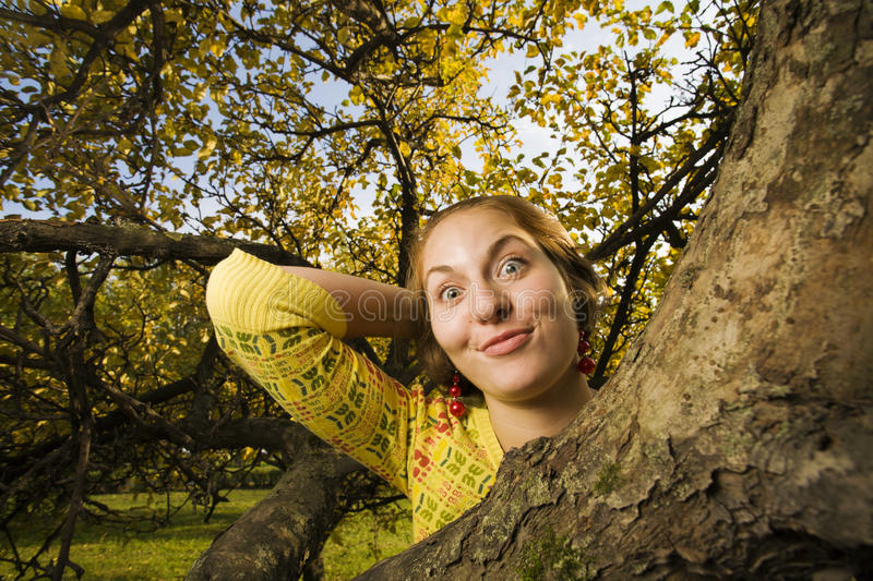Download Woman At Autumn Park Royalty Free Stock Photo - Image: 10517935