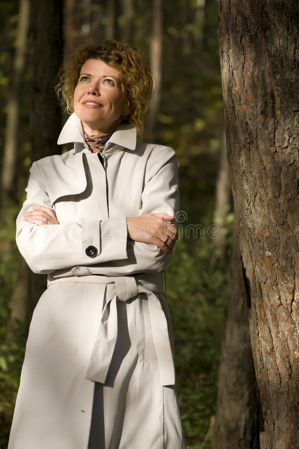 Download Woman in the autumn park stock image. Image of outdoor - 11260043