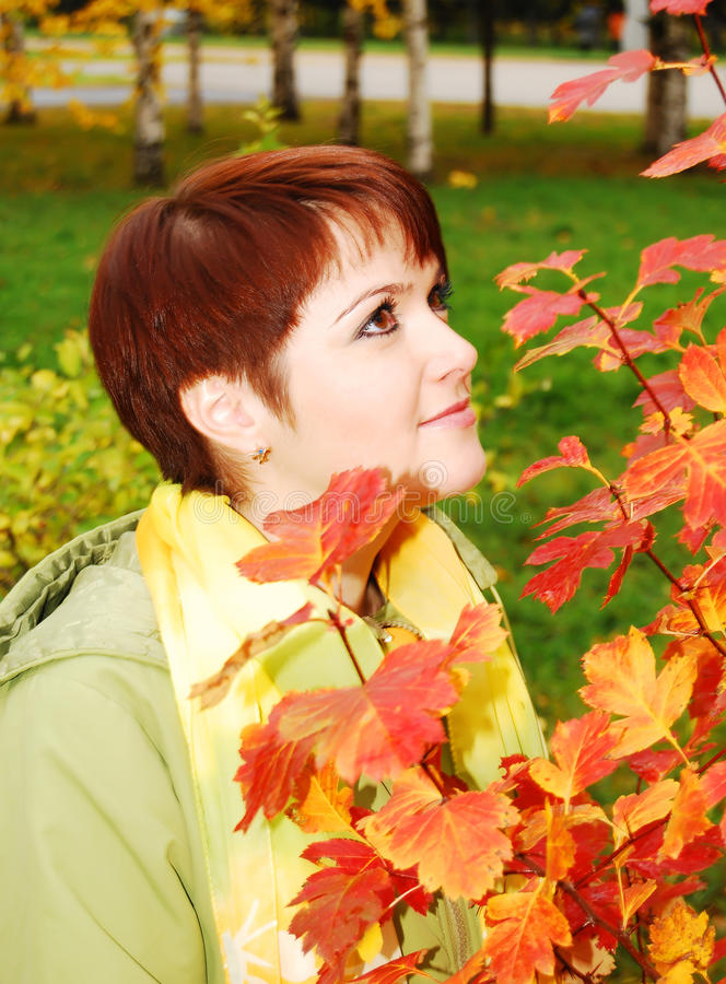 Download Woman in the autumn park. stock photo. Image of lifestyle - 11607244
