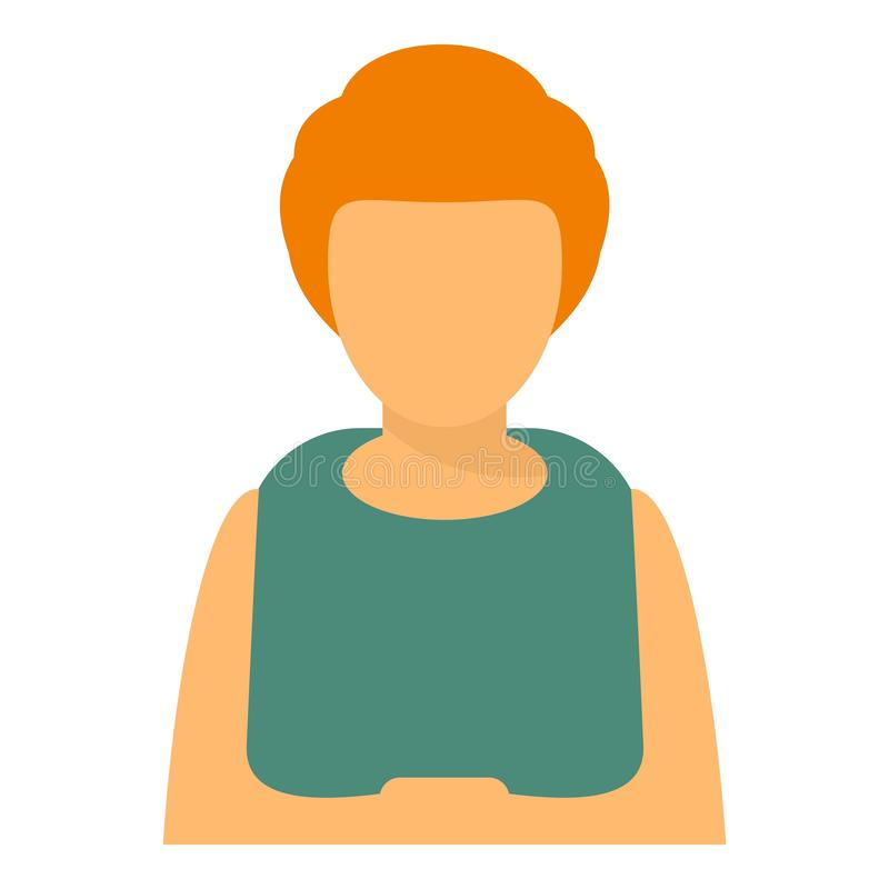 Woman avatar icon, flat style vector illustration