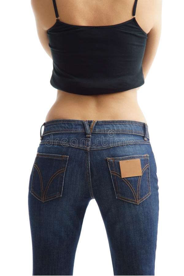 Woman back royalty free stock image