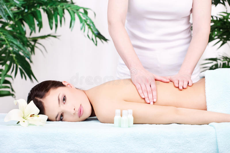 Download Woman on back massage stock image. Image of cute, care - 22701341