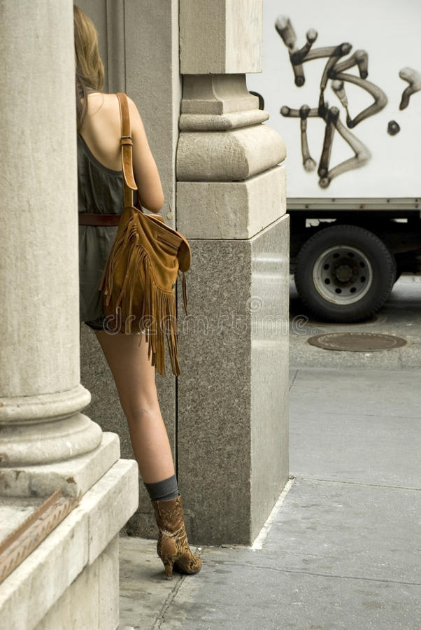 Download Woman Back In NYC Stock Photos - Image: 12401373