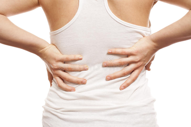 Woman with back pain
