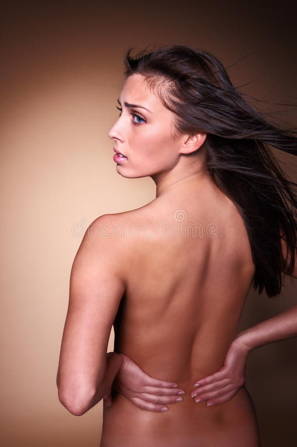 Woman Back Pain Royalty Free Stock Photography