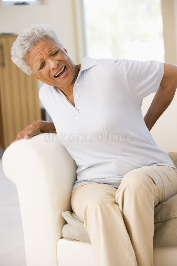 Woman With Back Pain Royalty Free Stock Image
