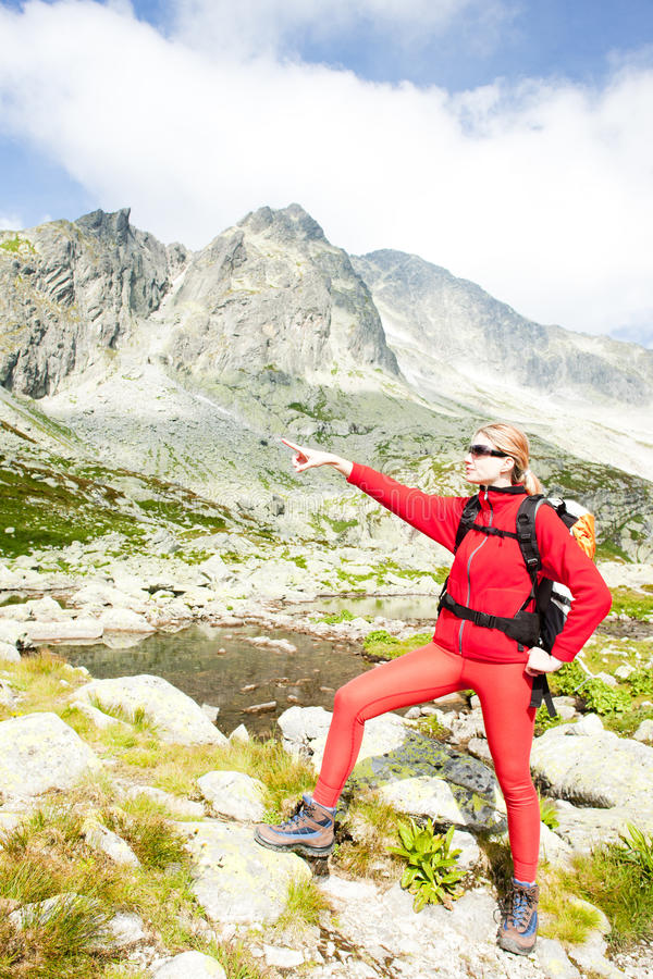 Download Woman Backpacker In High Tatras Stock Image - Image: 22781377
