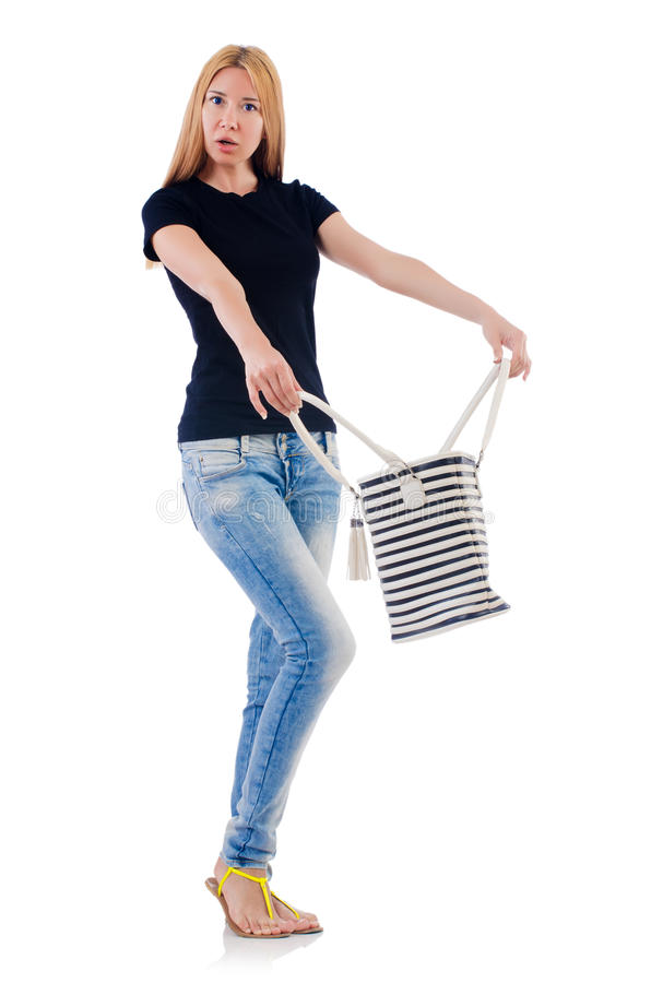 Woman with bag stock image