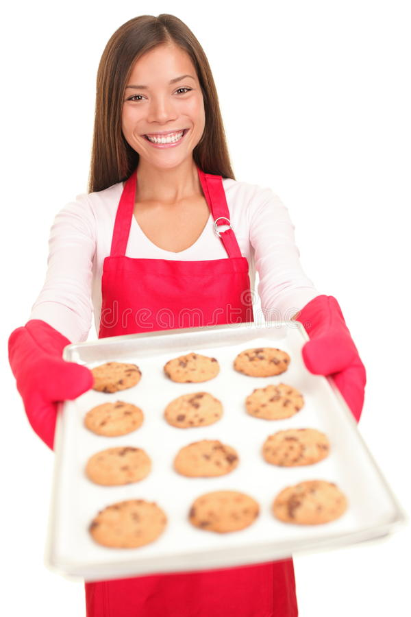 Free Woman Baking Cookies Isolated Royalty Free Stock Images - 17148109