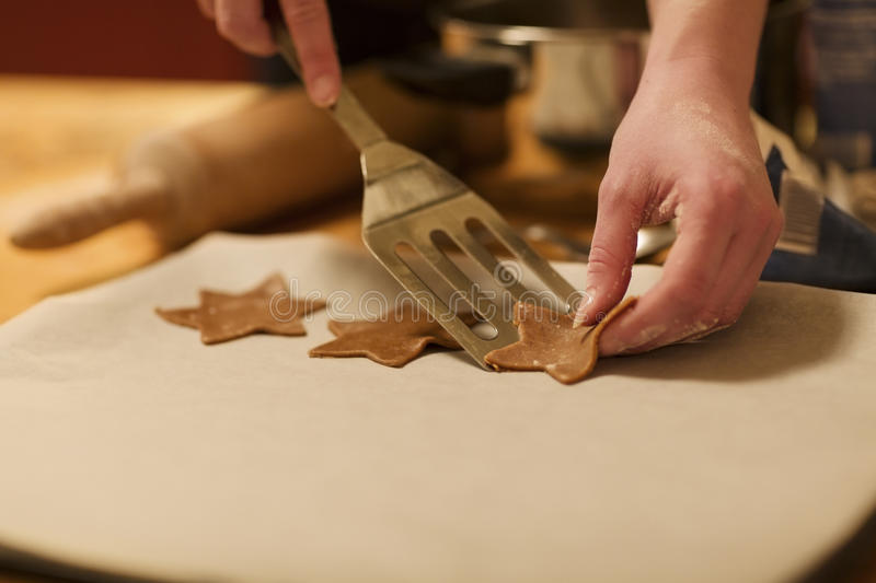 Baking Gingerbread Stars royalty free stock images