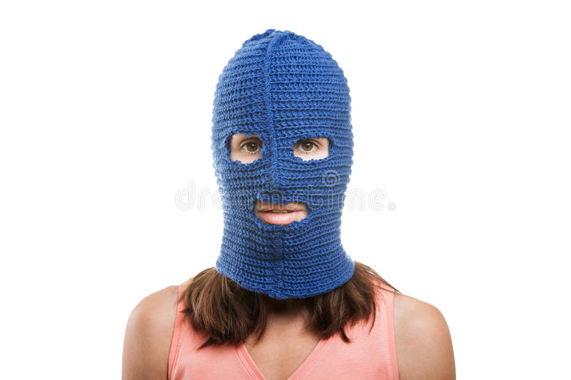 Download Woman in balaclava stock image. Image of face, isolated - 26304091