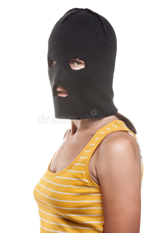 Download Woman in balaclava stock image. Image of freedom, isolated - 26304107