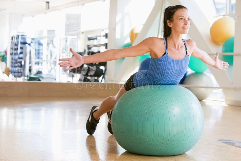 Download Woman Balancing On Swiss Ball Stock Image - Image: 7231069