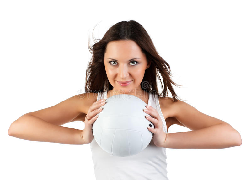 Woman with ball.