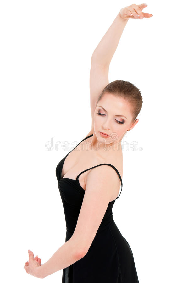 Woman ballerina ballet dancer stock photo