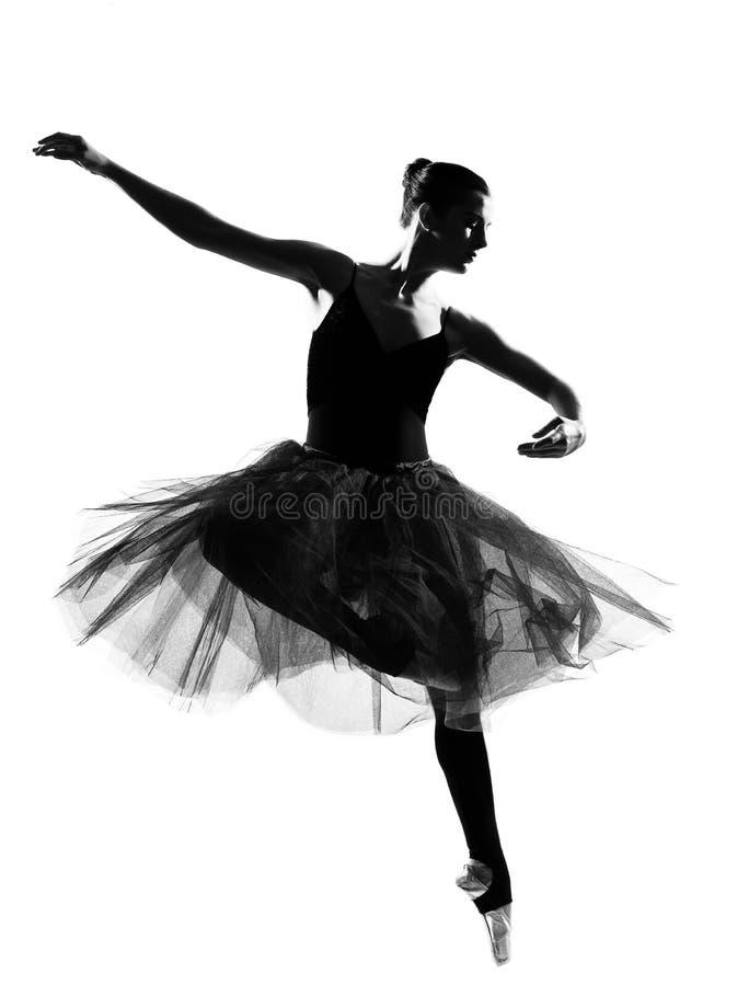 Download Woman Ballet Dancer Leap Dancing Silhouette Stock Image - Image: 23922705