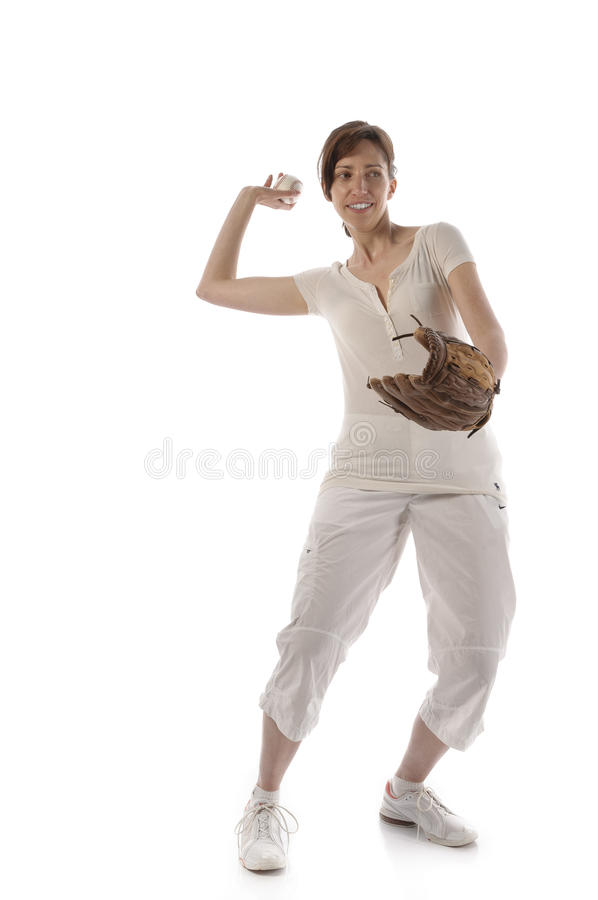 Download Woman With Baseballhandschuth Stock Photo - Image: 31875070