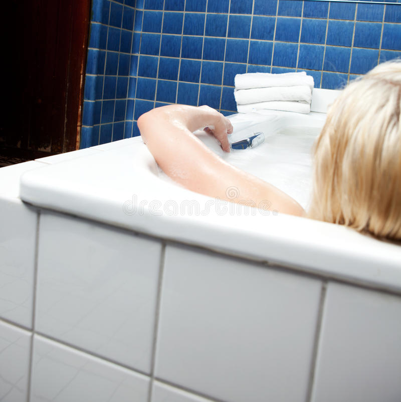 Download Woman in Bath Detail stock image. Image of blue, detail - 20405851