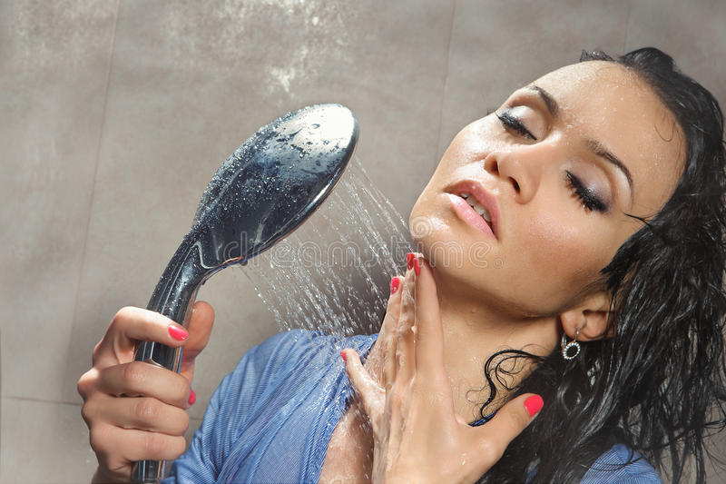 Download Woman bathing stock photo. Image of healthy, freshness - 24758294