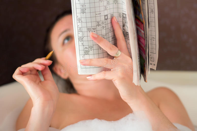 Download A woman in the bathroom stock photo. Image of adult, problems - 25889098