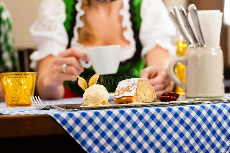 Download Woman In Bavarian Tracht In Restaurant Or Pub Stock Image - Image: 25272017