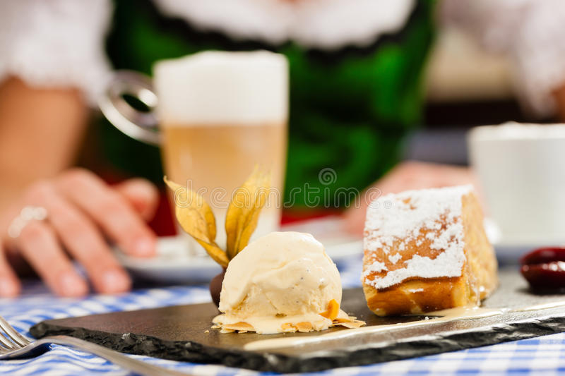 Download Woman In  Bavarian Tracht In Restaurant Or Pub Stock Photo - Image: 25272046
