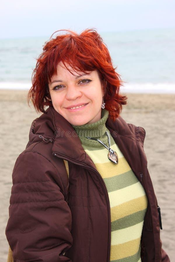 Woman On The Beach Royalty Free Stock Photos