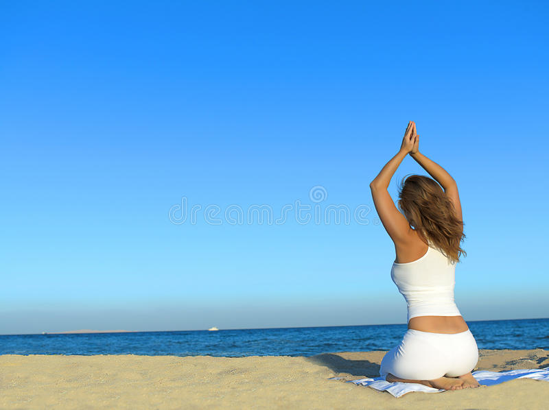 Download Woman On The Beach Stock Image - Image: 12044741