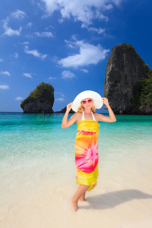 Download Woman On The Beach Royalty Free Stock Photography - Image: 12450117