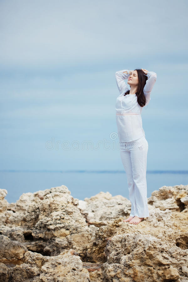 Download Woman at beach stock image. Image of human, health, leisure - 14150289