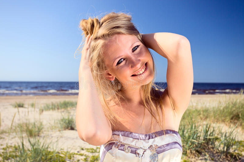 Download Woman  on a beach. stock photo. Image of outdoors, adult - 20125192