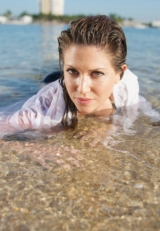 Download Woman at the Beach stock photo. Image of star, clothes - 26678724
